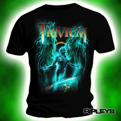 Official T Shirt TRIVIUM Black DEATH FROM ABOVE Blue All Sizes